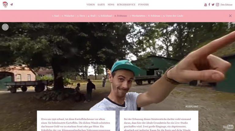 Bewegte Webseiten, bei denen sich das Screendesign aus Videos aufbaut