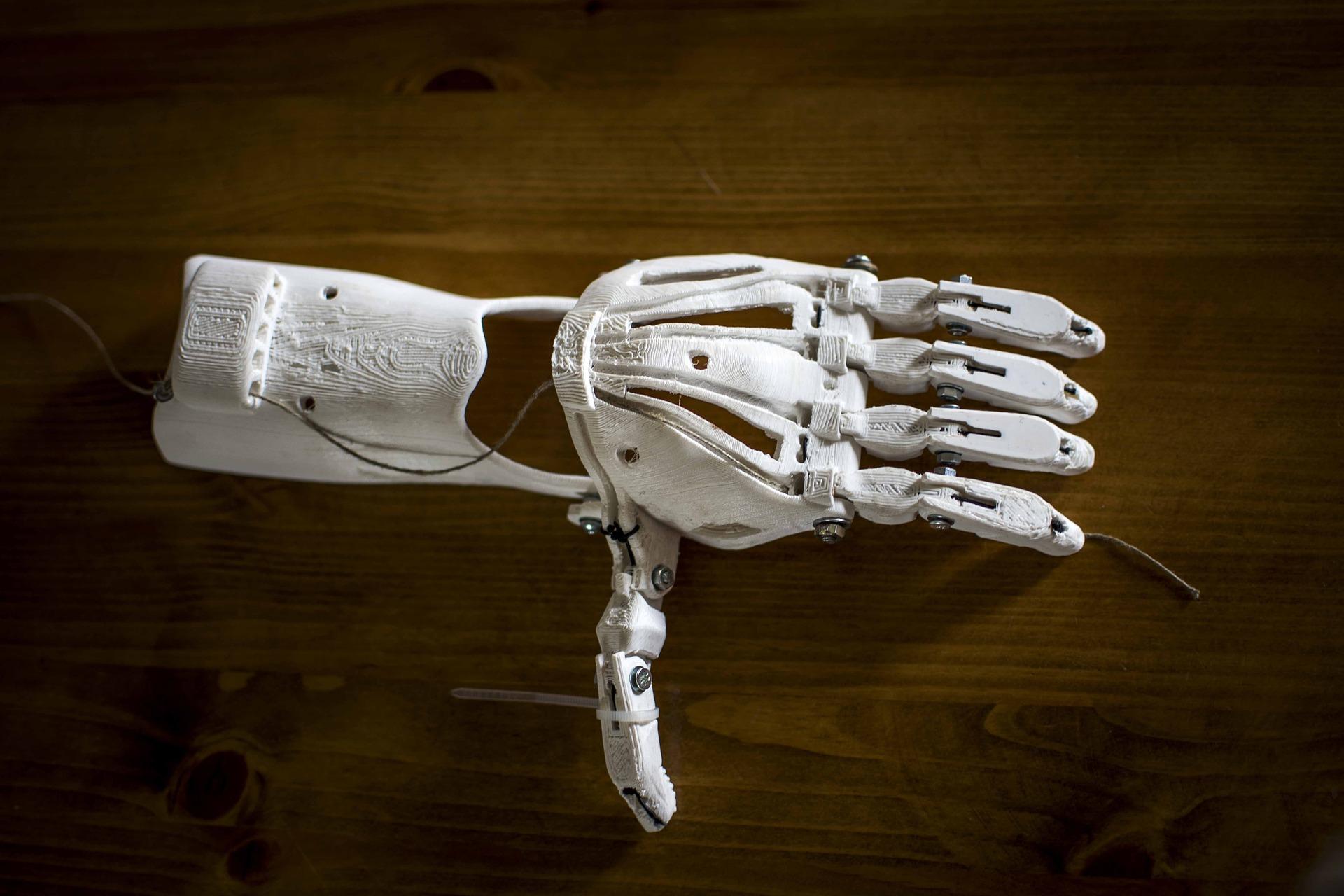 Zusehen ist eine 3D gedruckt Hand