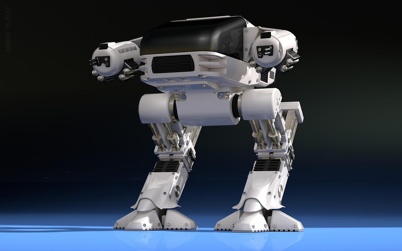 Futuristischer Kampfroboter