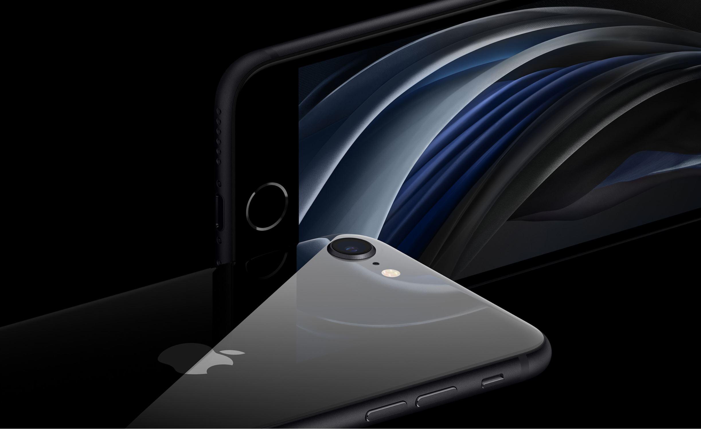 iPhone SE in Schwarz